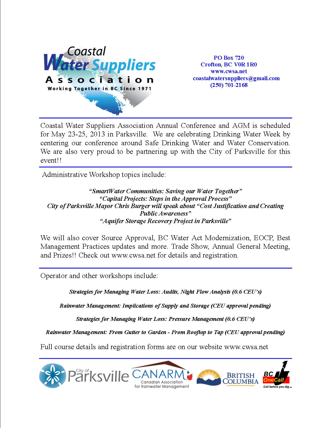 Feb 2013 CWSA Newsletter